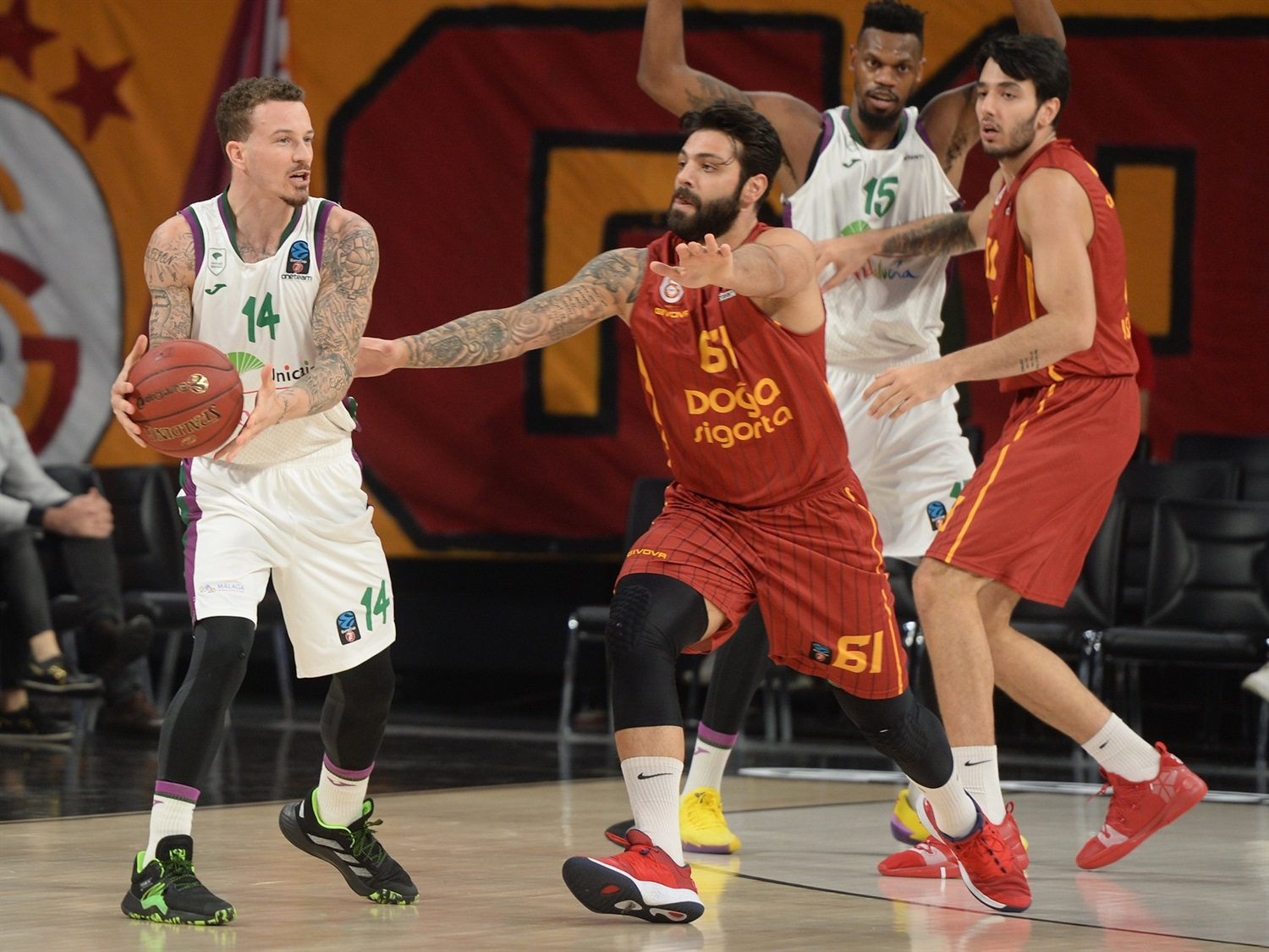 Josh Adams - Unicaja Malaga (photo Galatasaray - Ali Kemertas) - EC19