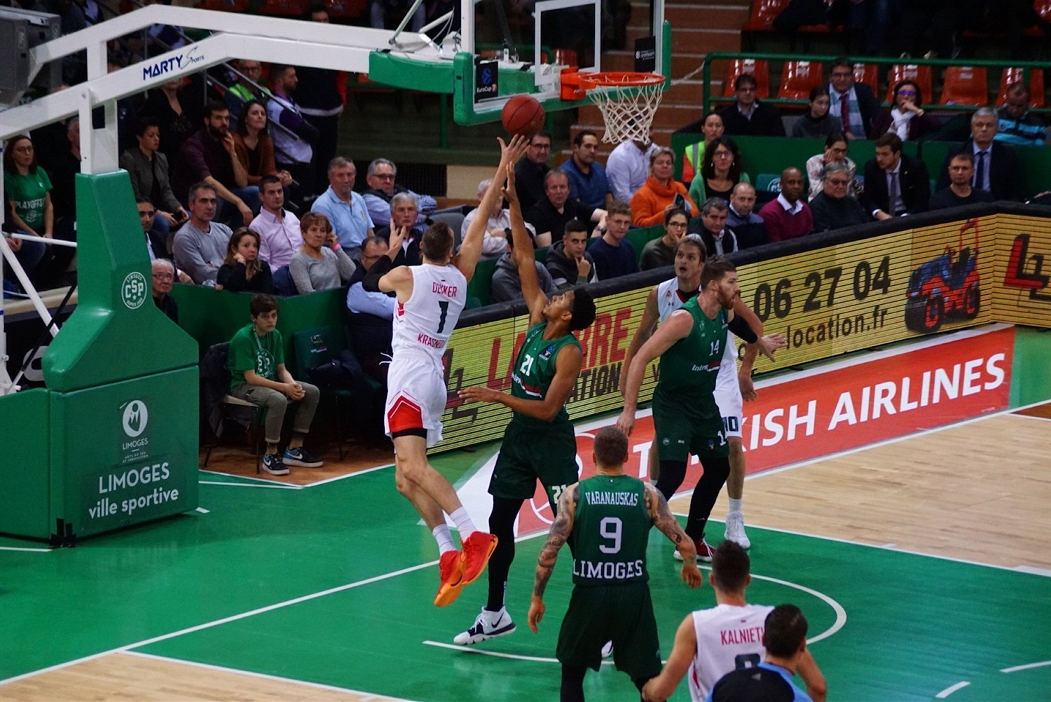 Sam Dekker - Lokomotiv Kuban Krasnodar (photo Limoges) - EC19