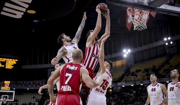 RS11 Report: Olympiacos rolls past Milan, 91-70