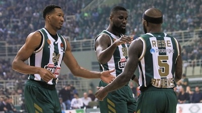 Rice's 41 lifts Panathinaikos in Greek derby classic