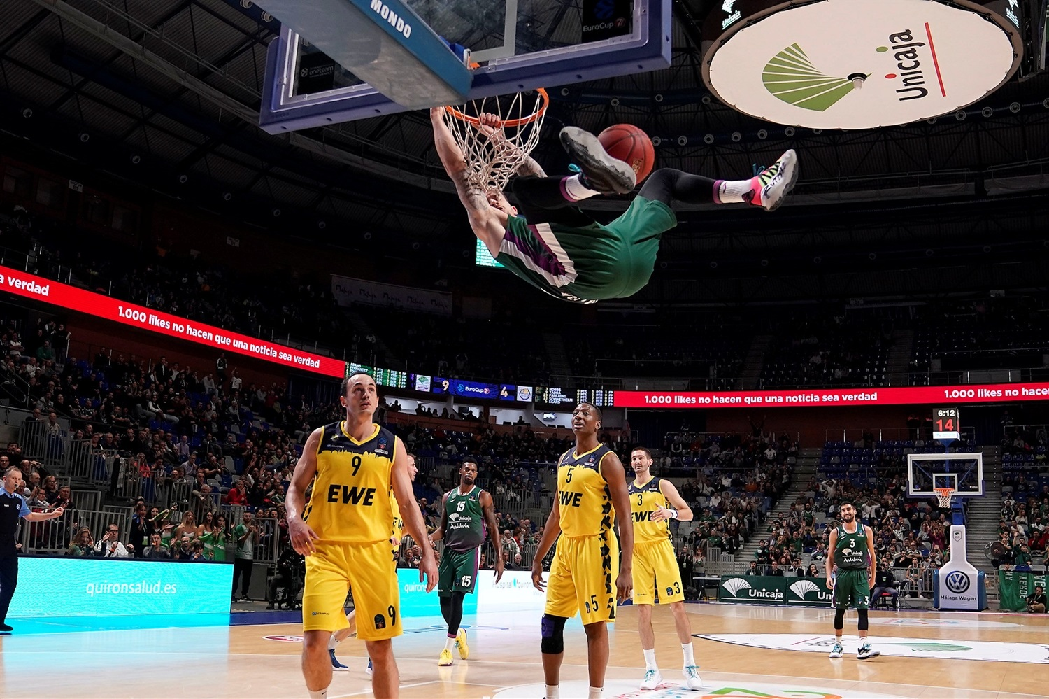 Josh Adams - Unicaja Malaga (photo Mariano Pozo - Unicaja) - EC19