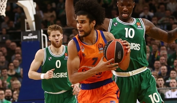 Valencia holds off Zalgiris for first road win