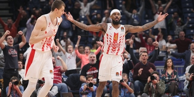 Unstoppable Brown helped Zvezda stay in playoffs race
