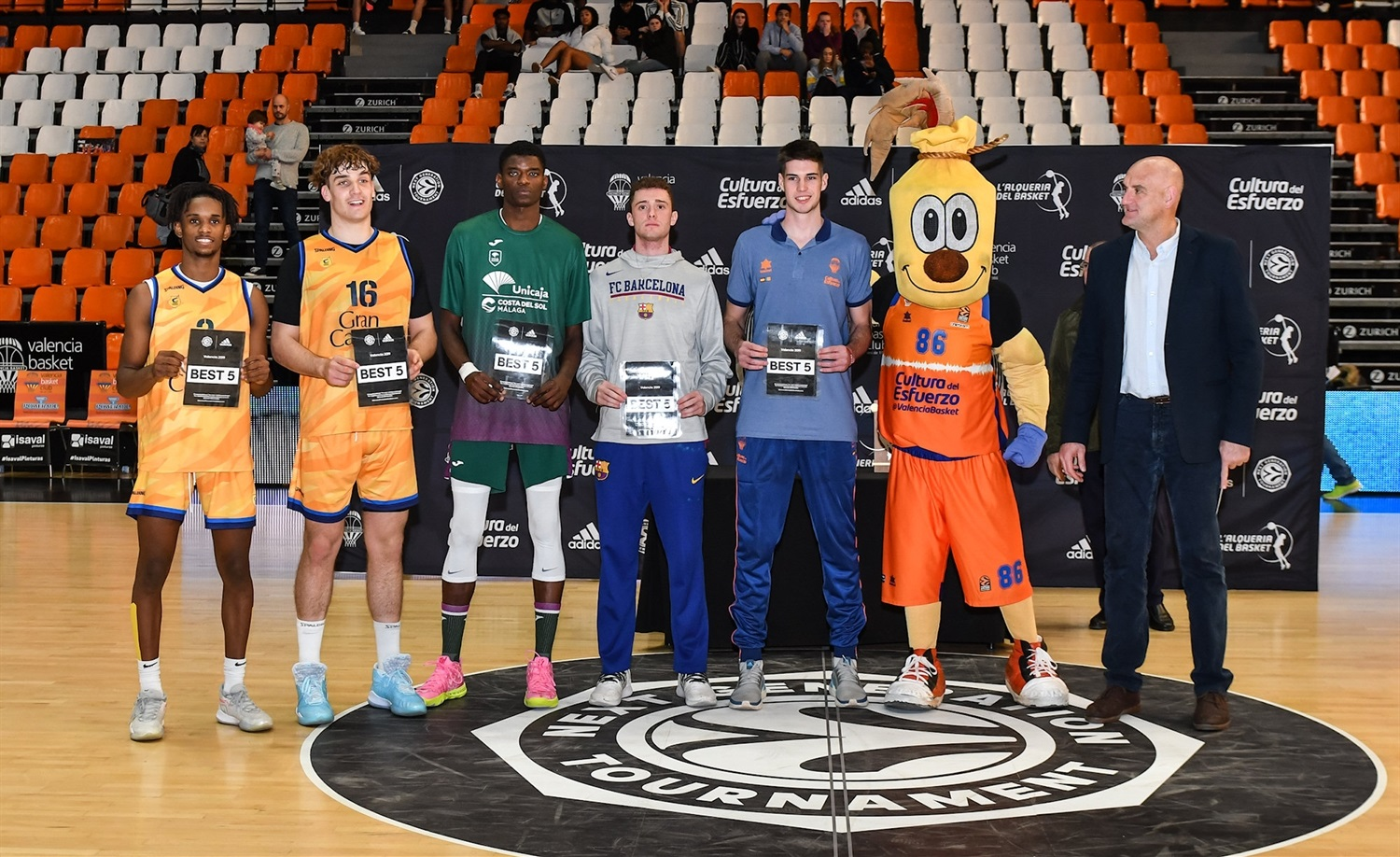 All-Tournament Team ANGT Valencia 2019-20 (photo Isaac Ferrera) - JT19