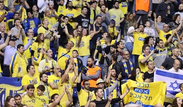 1,000-plus fans flew to support Maccabi in Berlin