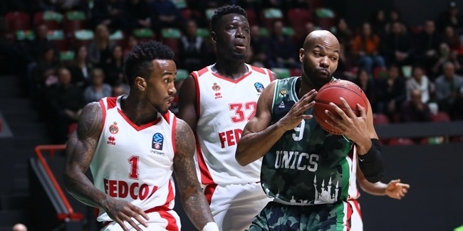 7DAYS EuroCup, Top 16 Round 2: UNICS Kazan vs. AS Monaco