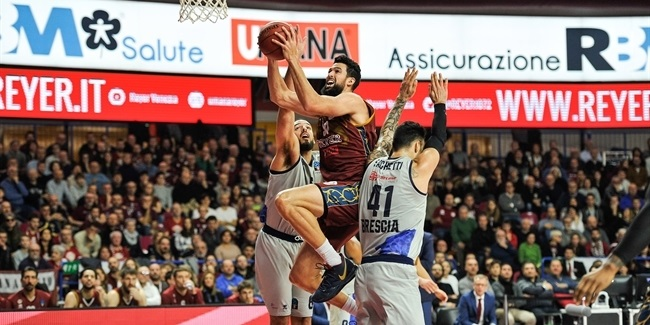 7DAYS EuroCup, Top 16 Round 2: Umana Reyer Venice vs. Germani Brescia Leonessa