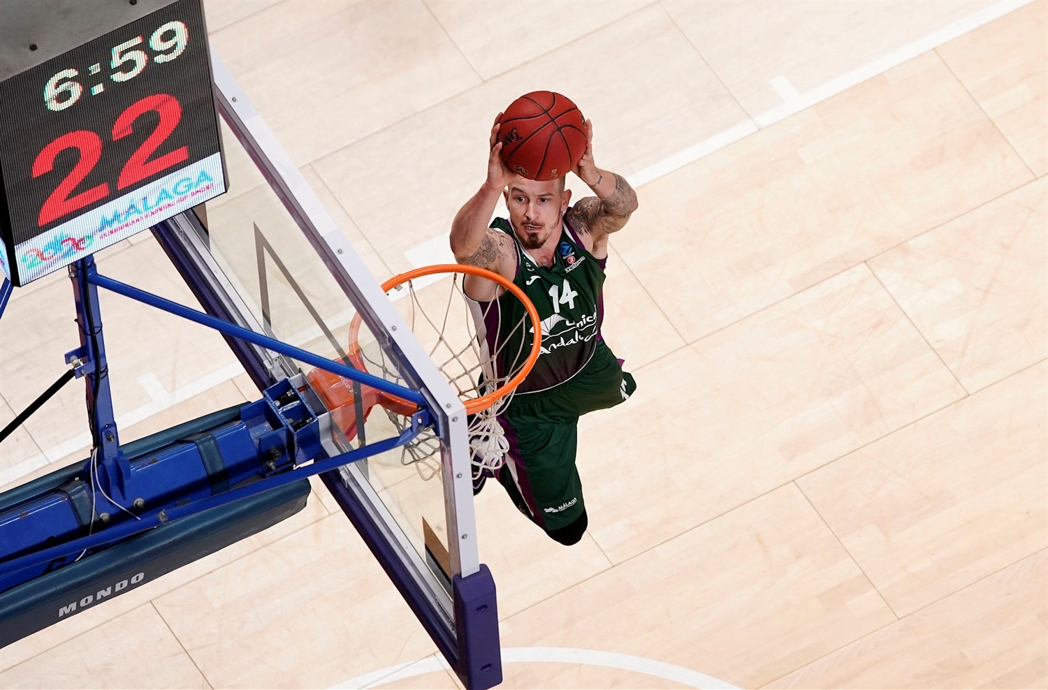 Josh Adams - Unicaja Malaga (photo Mariano Pozo) - EC19