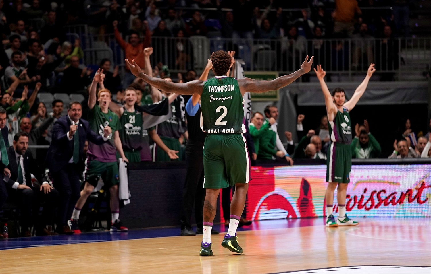 Deon Thompson celebrates - Unicaja Malaga - EB19