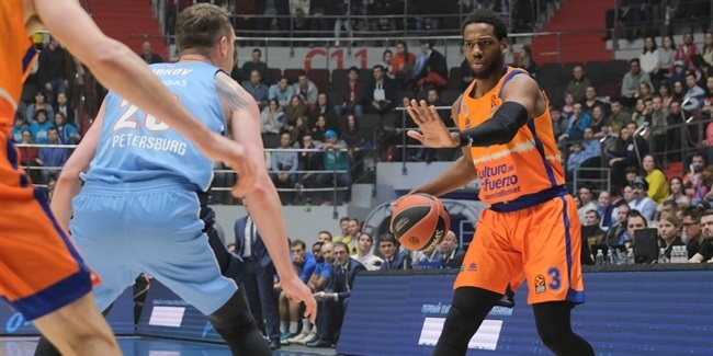 RS Round 20: Zenit St Petersburg vs. Valencia Basket