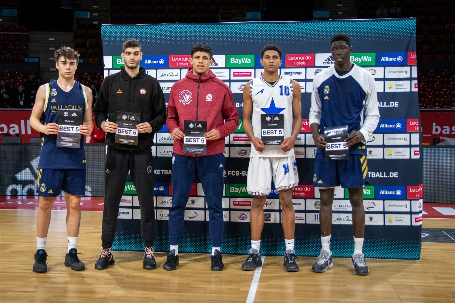 All-Tournament Team ANGT Munich 2020 (photo Begum Unal - Bayern) - JT19