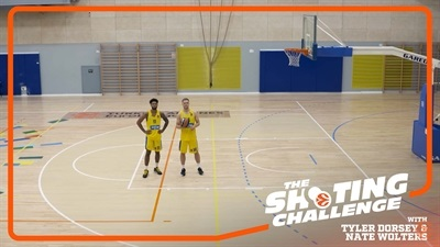 Shooting Challenge: Tyler Dorsey & Nate Wolters, Maccabi