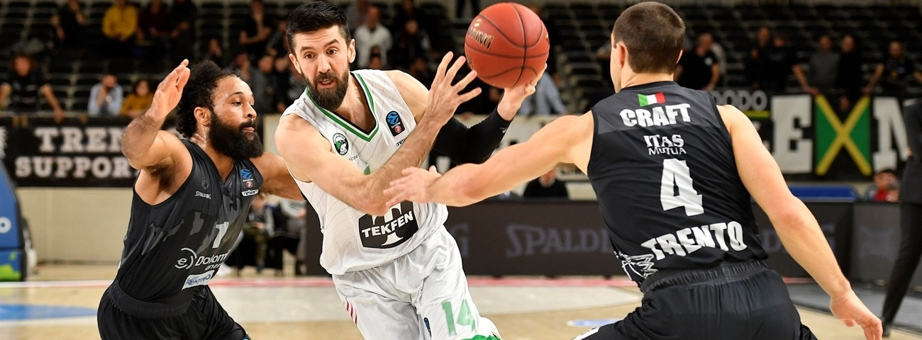 Boards, threes powered Darussafaka in Trento