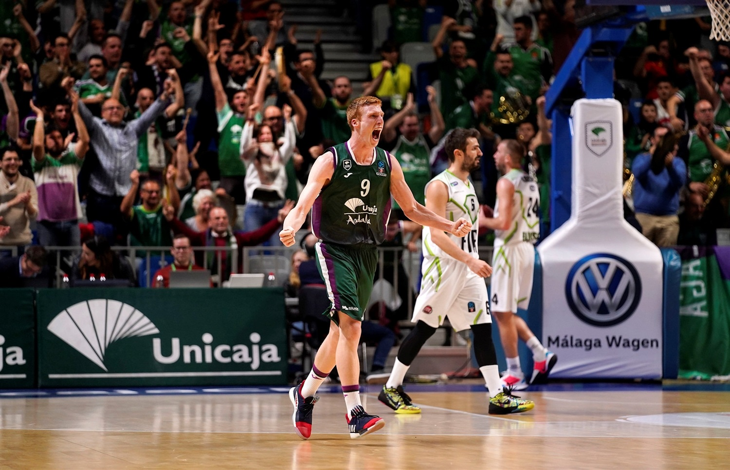 Alberto Diaz celebrates - Unicaja Malaga (photo Mariano Pozo - Unicaja) - EC19