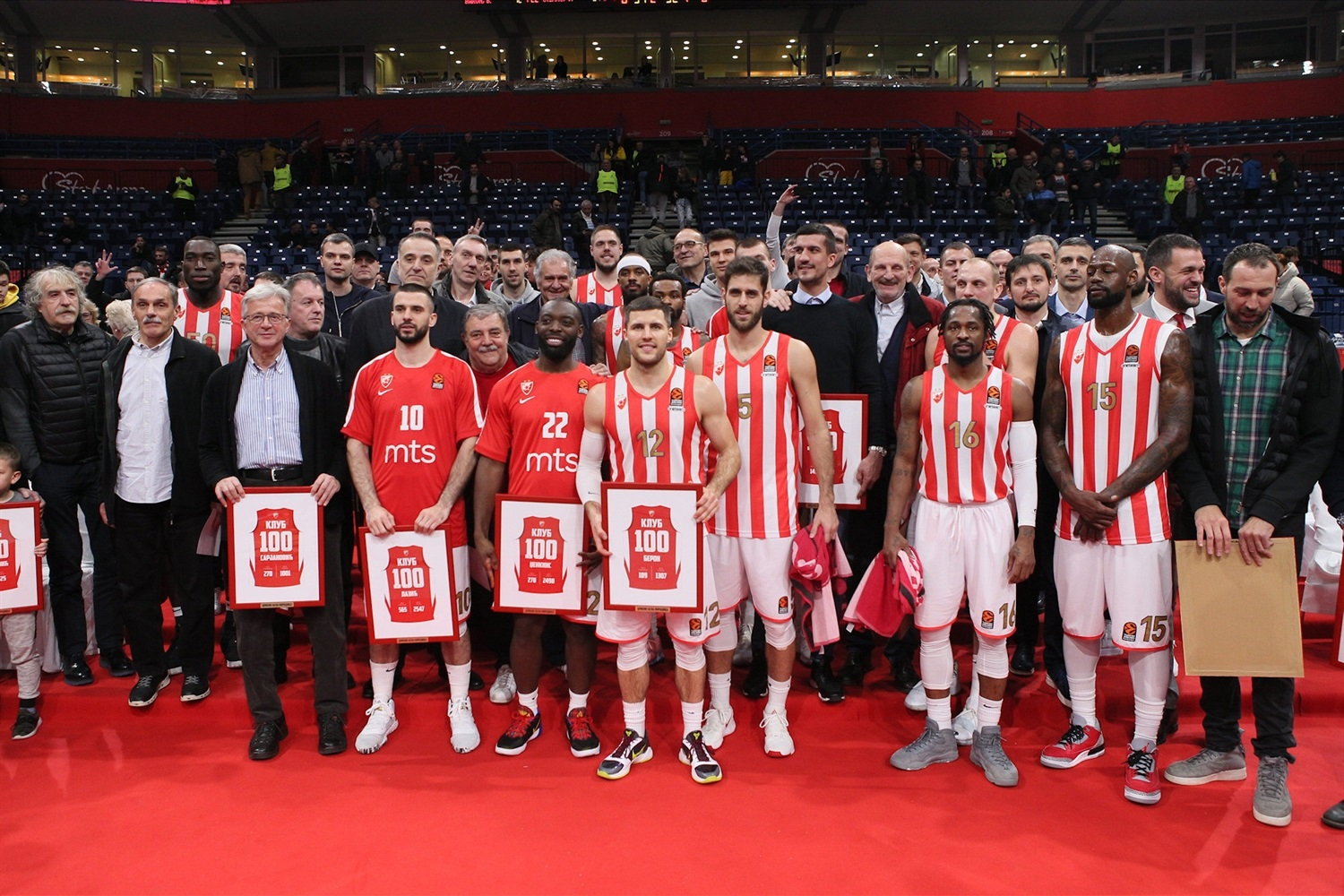 Members of 100 club - Crvena Zvezda mts Belgrade - EB19