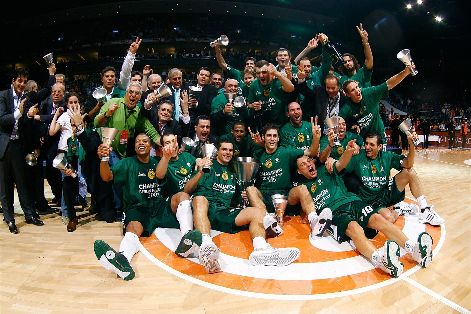 Panathinaikos is Champ 2008-09 - Final Four Berlin 2009