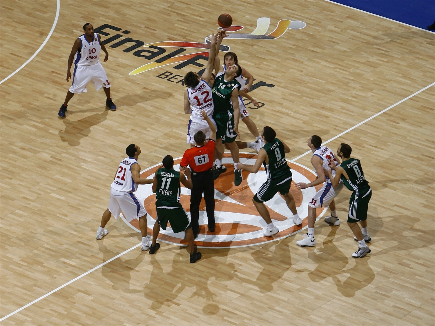 Tip-Off Panathinaikos vs. CSKA Moscow - Final Four Berlin 2009 - EB08