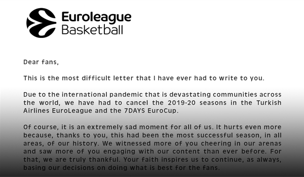 Letter to the fans from Jordi Bertomeu