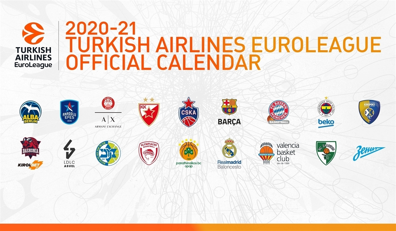The 2020 21 Turkish Airlines EuroLeague calendar is here!   News