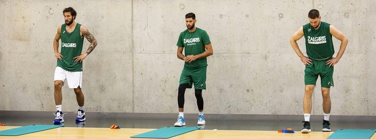 Zalgiris holds first group session of preseason