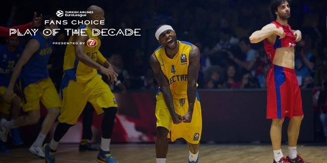Round 1 winner, Fans Choice Play of the Decade: Tyrese Rice