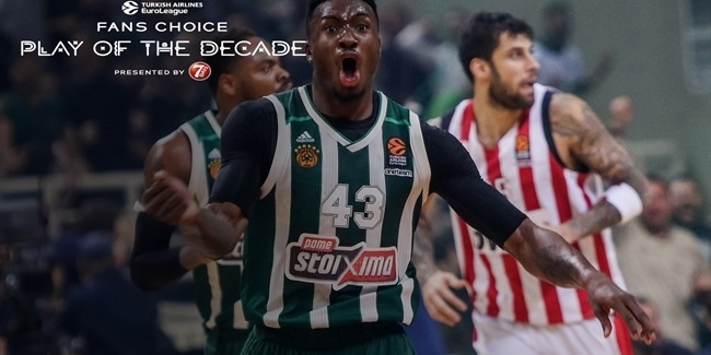 Round 5 winner, Fans Choice Play of the Decade: Thanasis Antetokounmpo