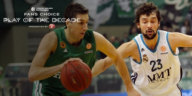 Round 7 winner, Fans Choice Play of the Decade: Dimitris Diamantidis