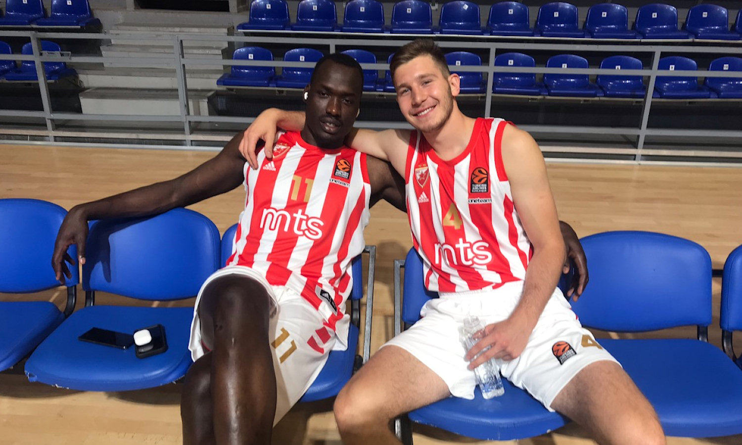 Duop Reath and Aleksa Uskokovic - Crvena Zvezda mts Belgrade Media Day 2020 (photo Zvezda) - EB20
