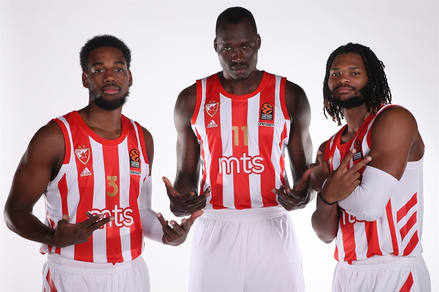 Jordan Loyd, Duop Reath and Corey Walden - Crvena Zvezda mts Belgrade Media Day 2020 - EB20