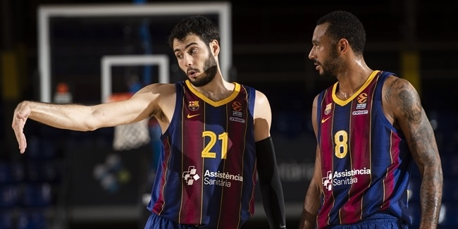 Once again smiling, Abrines stepped up for Barcelona