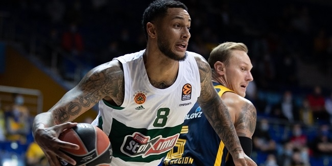 Panathinaikos crashed the glass for road win and club record
