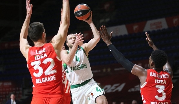 RS3 Report: Zalgiris leaves Belgrade with perfect record intact