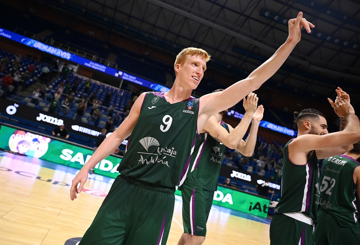 Alberto Diaz celebrates - Unicaja Malaga (photo Unicaja - M. Pozo) - EC20