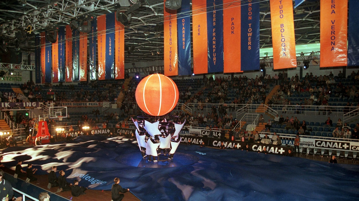 The opening ceremonies celebrated the birth of a new basketball league