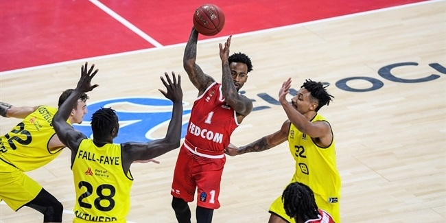 7DAYS EuroCup, Regular Season Round 8: Telenet Giants Antwerp vs. AS Monaco