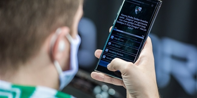 Innovative Zalgiris initiative takes fan support online