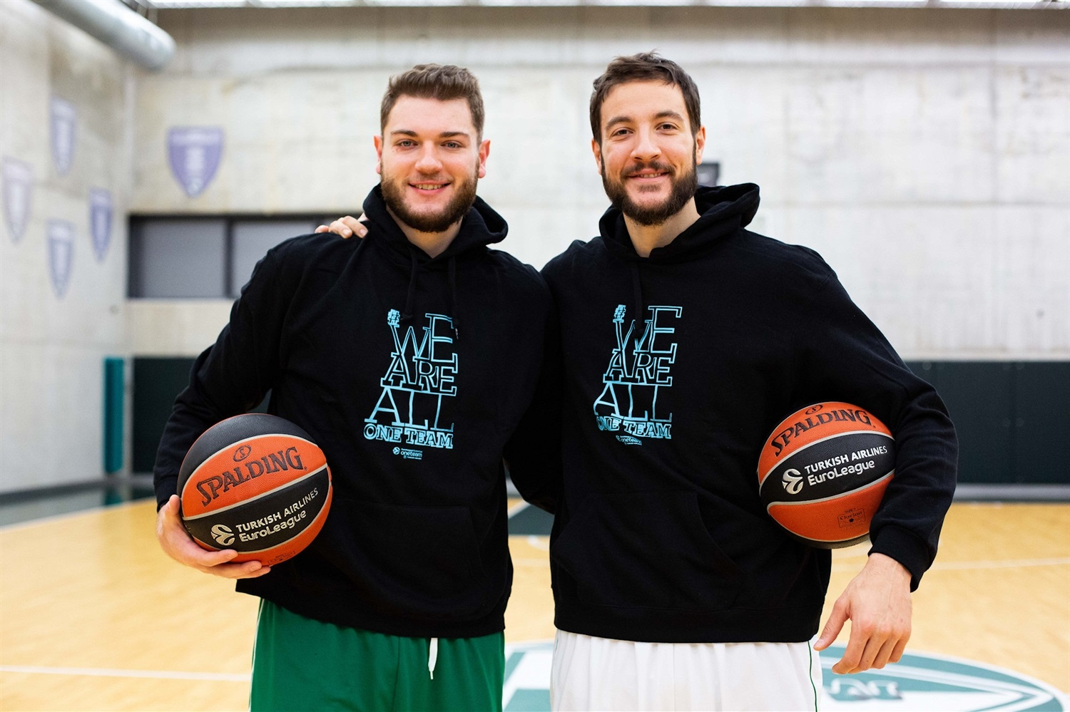 Martinas Geben and Joffrey Lauvergne - Zalgiris Kaunas - We are all one team - EB20