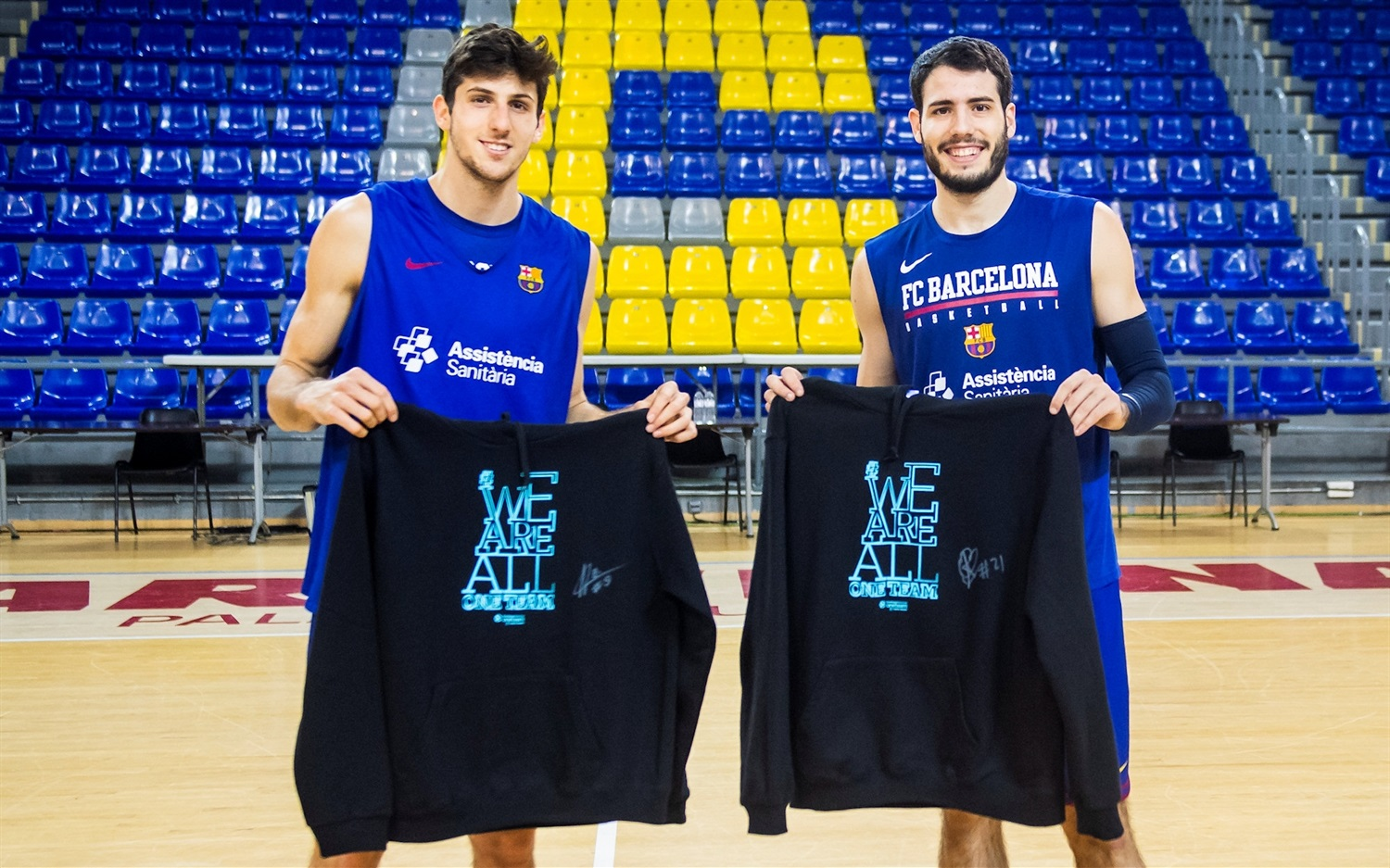 Leandro Bolmaro and Alex Abrines, We Are All One Team - FC Barcelona - EB20