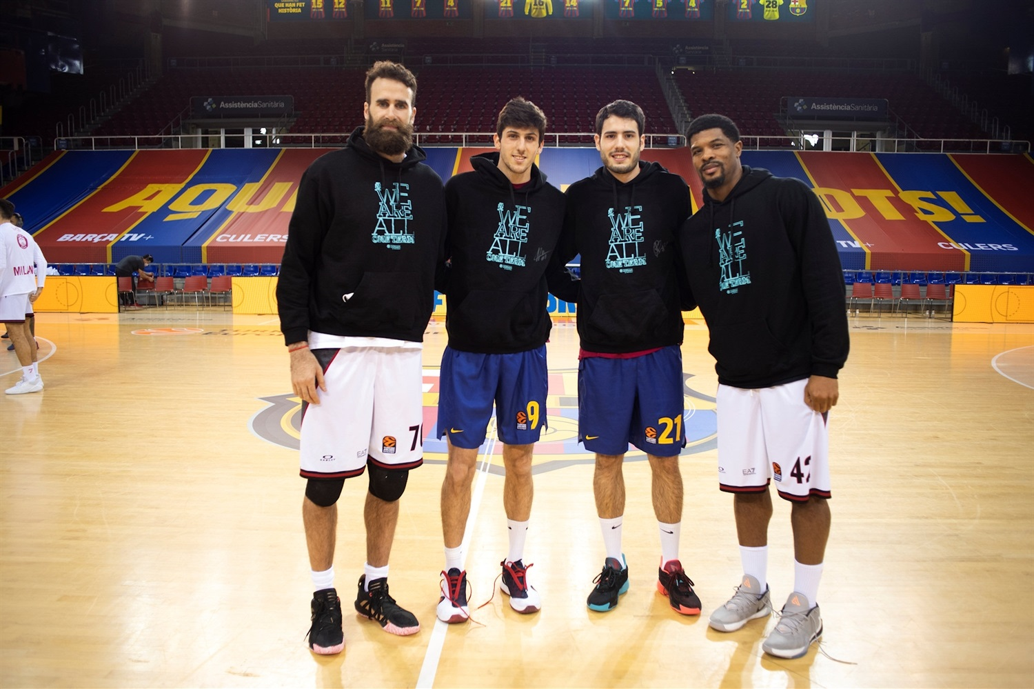 Datome, Bolmaro, Abrines and Hines, We Are All One Team - FC Barcelona vs. CSKA Moscow - EB20