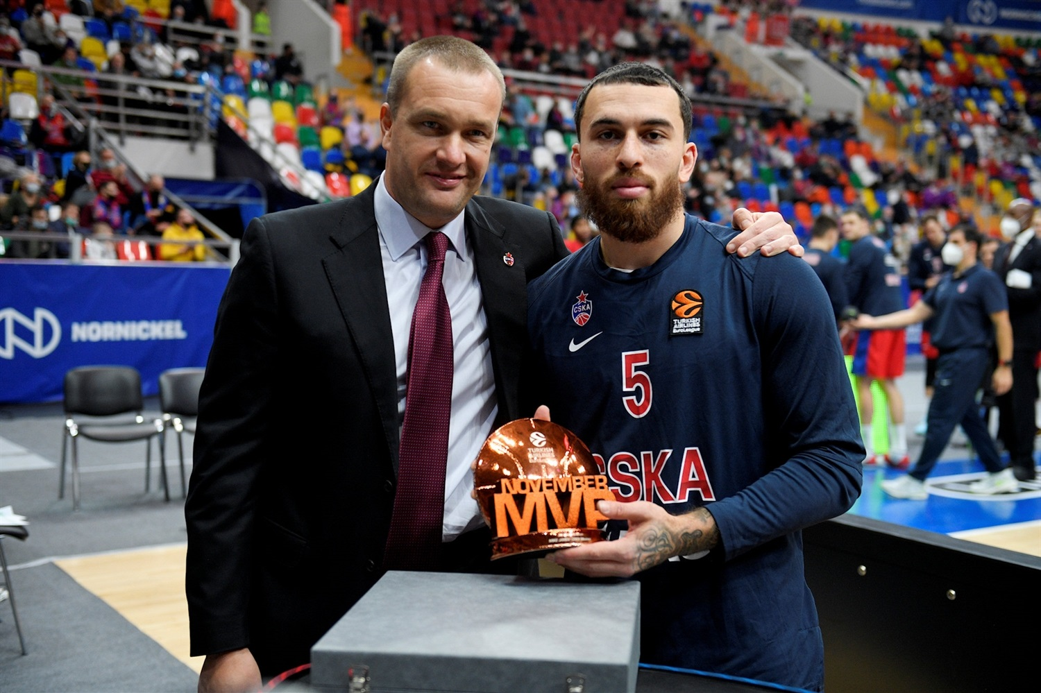 Mike James, November 2020 MVP - CSKA Moscow - EB20