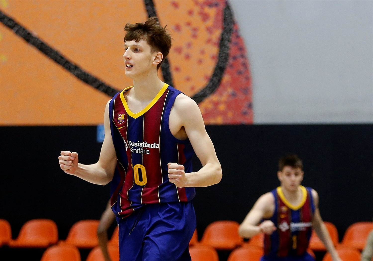 Ian Granja celebrates - U18 FC Barcelona (photo Miguel Angel Polo) - JT20