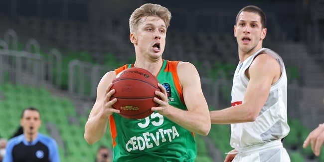 When twos wouldn't fall, Olimpija beat Buducnost with threes