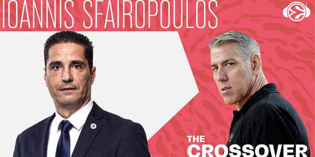 Maccabi coach Ioannis Sfairopoulos visits The Crossover
