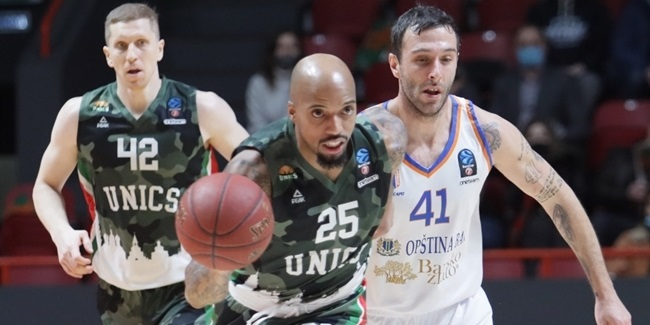 7DAYS EuroCup, Top 16 Round 4: UNICS Kazan vs. Mornar Bar