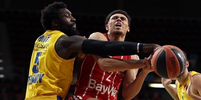 Bayern used offensive boards, Baldwin's best to down Maccabi