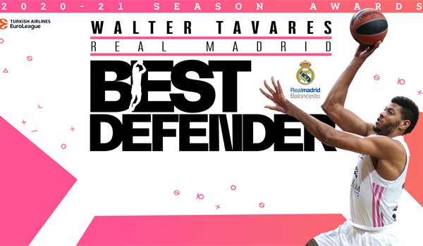 Real's Tavares repeats as EuroLeague Best Defender