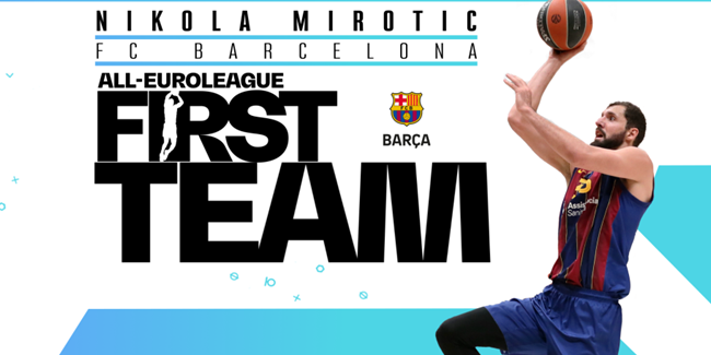Barcelona's Mirotic selected for All-EuroLeague First Team!