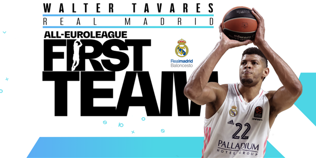 Real's Tavares makes the All-EuroLeague First Team!
