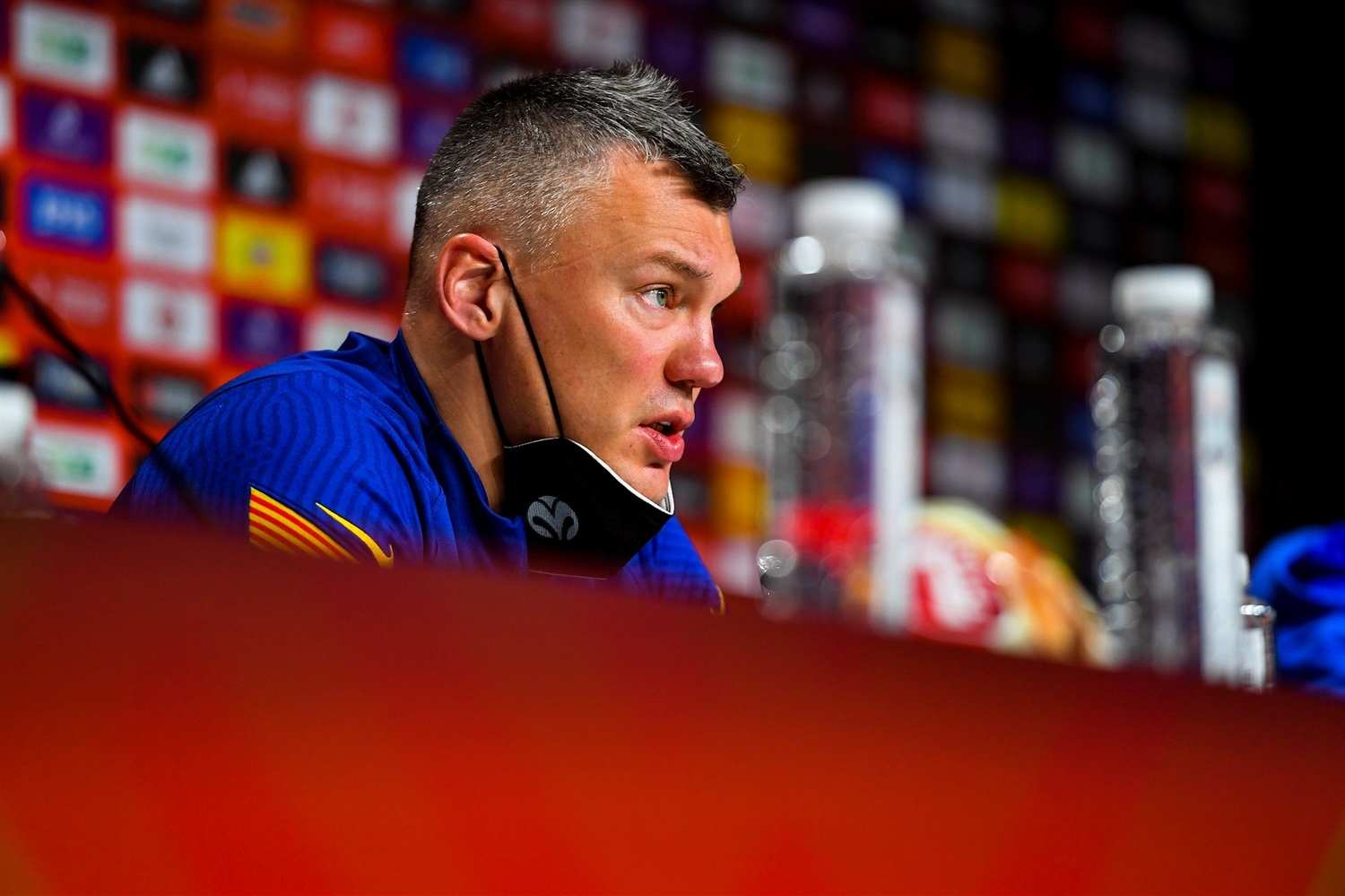 Sarunas Jasikevicius - FC Barcelona - Championship Game press conference - Final Four Cologne 2021 - EB20