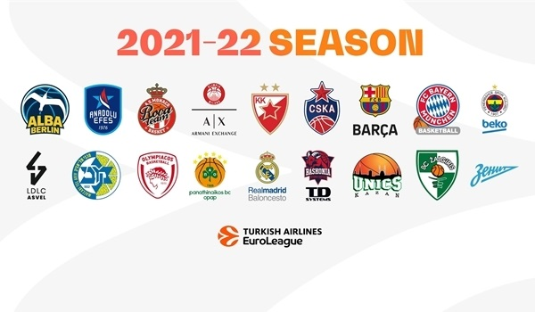Here are the 2021-22 Turkish Airlines EuroLeague teams!